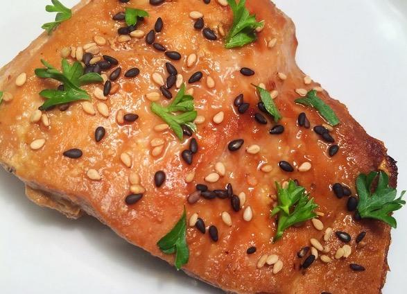 蜂蜜味噌酱烤鲑鱼排的做法