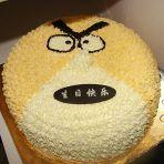 愤怒的小鸟水果奶油蛋糕