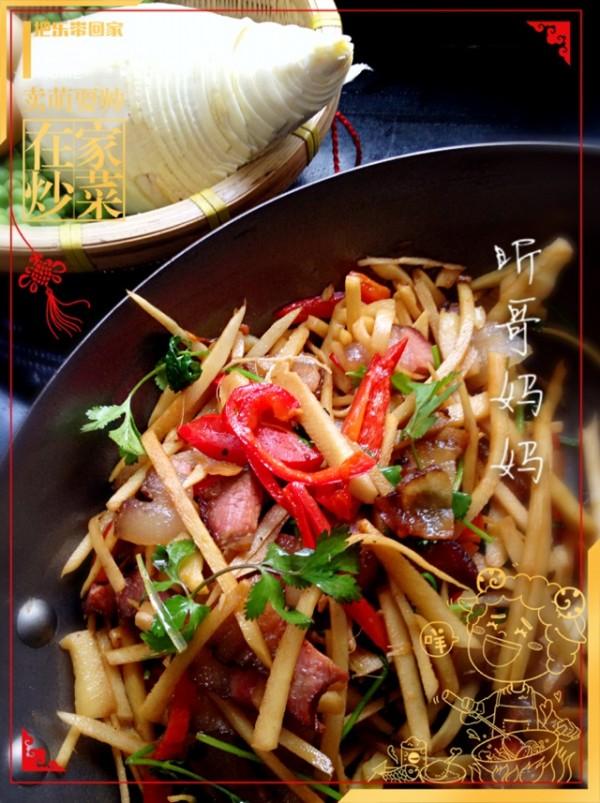 干锅冬笋腊味的做法