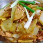 干锅素鸡白菜