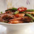 干煸豆角炒虾