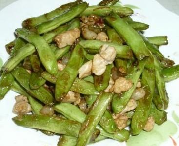 干煸肉粒扁豆