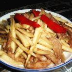 高笋炒肉的做法