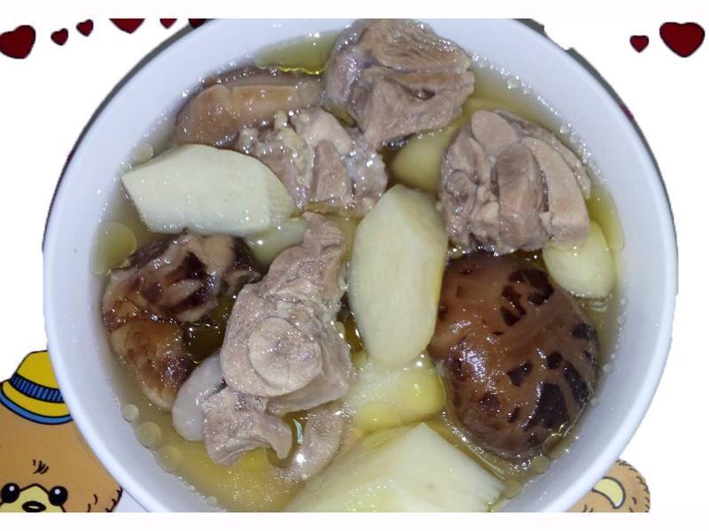 筊白笋香菇鸡