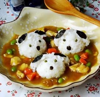 狗狗咖喱鸡肉饭