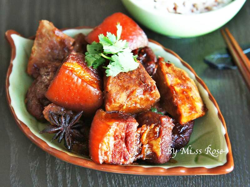 桂花鱼焖猪肉