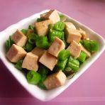 骨汤豆角炖豆腐