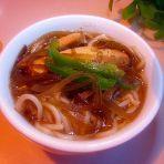 海带豆腐热汤面的做法