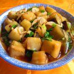 海米蚝油茄丁的做法