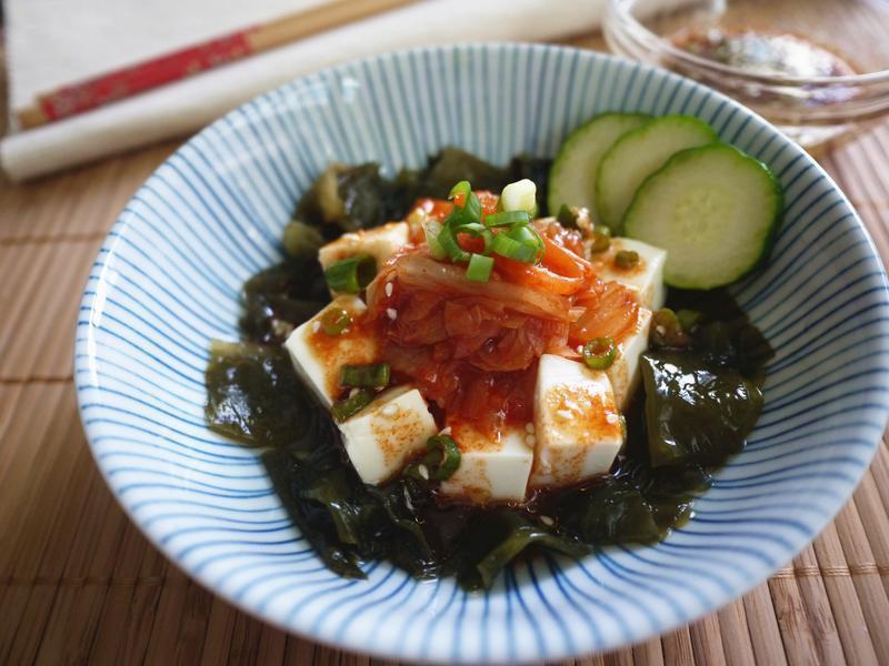 韩式泡菜豆腐沙拉