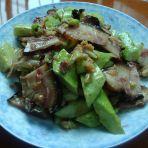 黑猪头肉拌白黄瓜的做法
