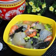 河虾紫菜冬瓜汤的做法