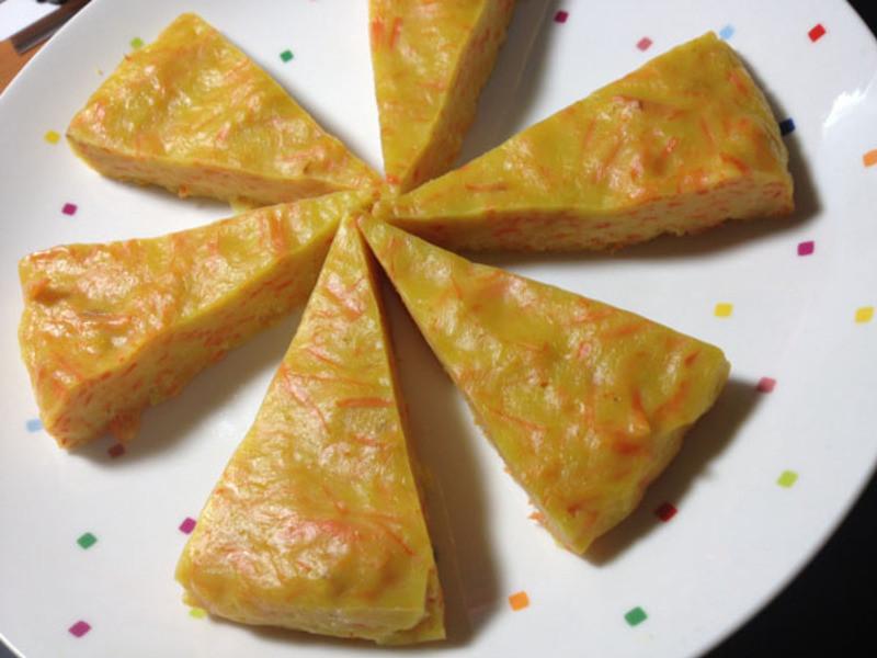 红萝卜蛋饼
