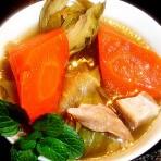 红萝卜剑花汤的做法
