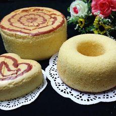 红曲拉花戚风蛋糕