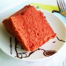 红曲米烫面蛋糕