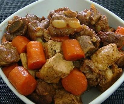 红烧排骨冻豆腐