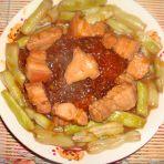 红烧肉炖芸豆