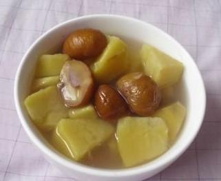 红薯板栗糖水的做法