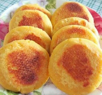 红薯馅玉米饼