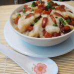 红枣鱼片蒸糯米饭