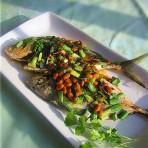 黄豆酱煎海鱼