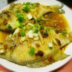 黄豆酱蒸太阳鱼