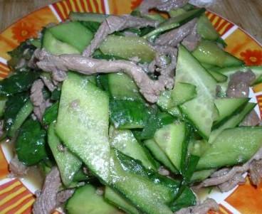 黄瓜炒肉丝