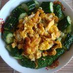 黄瓜凉拌炒鸡蛋