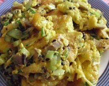 黄瓜蘑菇煎蛋