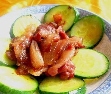黄瓜肉片的做法