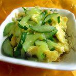 黄瓜丝炒鸡蛋