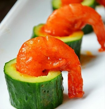 黄瓜酸辣虾