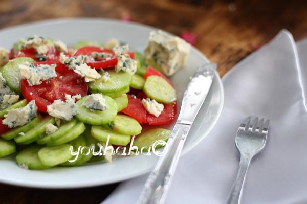 黄瓜西红柿沙拉