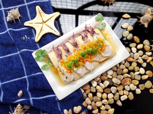 黄椒蒸豆腐鱿鱼