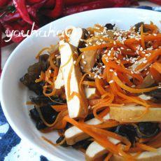 胡萝卜拌香干