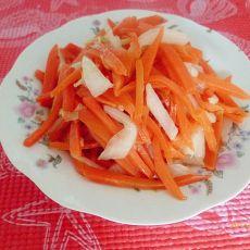胡萝卜炒白菜梗