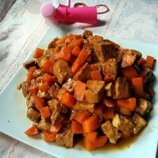 胡萝卜炒豆腐