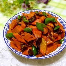 胡萝卜炒牛肉