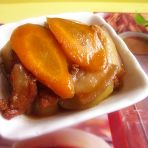 胡萝卜黄瓜丁炒肉片