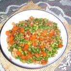 胡萝卜豌豆炒肉末