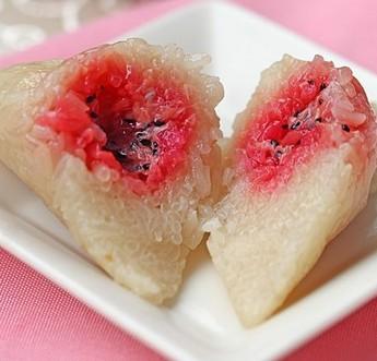 火龙果粽的做法