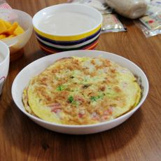 火腿鸡蛋沙拉饼