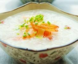 火腿鲜虾粥