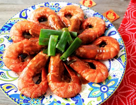 酱烧富贵红虾