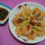 姜丝蒸风干虾