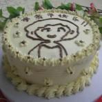 简画奶油蛋糕的做法
