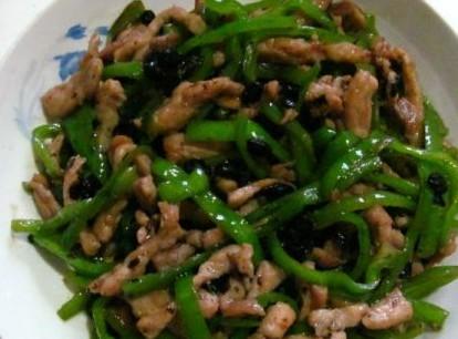 尖椒豆豉炒肉丝
