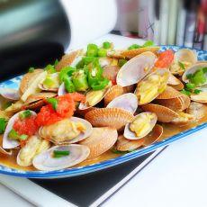 椒香西红柿炒花蛤的做法