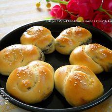 椒盐核桃花生面包
